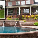 landscape pavers before and after photo