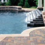Custom pool deck paver image