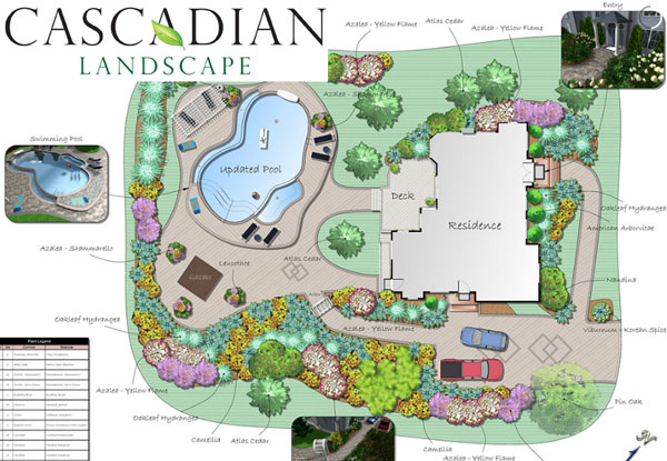 landscape design cad drawing