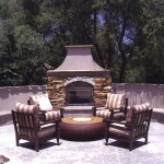 Outdoor Fireplace Landscape Project in Rocklin